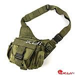 點一下即可放大預覽 -- NG品 軍綠色~特戰勤務鞍袋,旅行包,單肩包,休閒包,斜背包