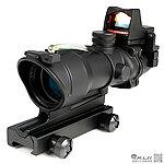 4X32 綠色真光纖 4倍小海螺快瞄鏡 + 自動感光 內紅點 快瞄鏡
