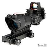 4X32 紅色真光纖 4倍小海螺快瞄鏡 + 自動感光 內紅點 快瞄鏡