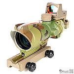 CP多地迷彩 4X32 紅色真光纖 4倍小海螺快瞄鏡 + 自動感光 內紅點 快瞄鏡