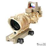 蟒紋迷彩 4X32 紅色真光纖 4倍小海螺快瞄鏡 + 自動感光 內紅點 快瞄鏡