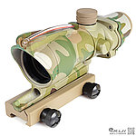 CP多地迷彩 感光式 4X32 四倍小海螺倍鏡 (光纖紅點+戰術十字線),狙擊鏡,免裝電池
