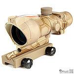 點一下即可放大預覽 -- 蟒蛇迷彩 感光式 4X32 四倍小海螺倍鏡 (光纖紅點+戰術十字線),狙擊鏡,免裝電池