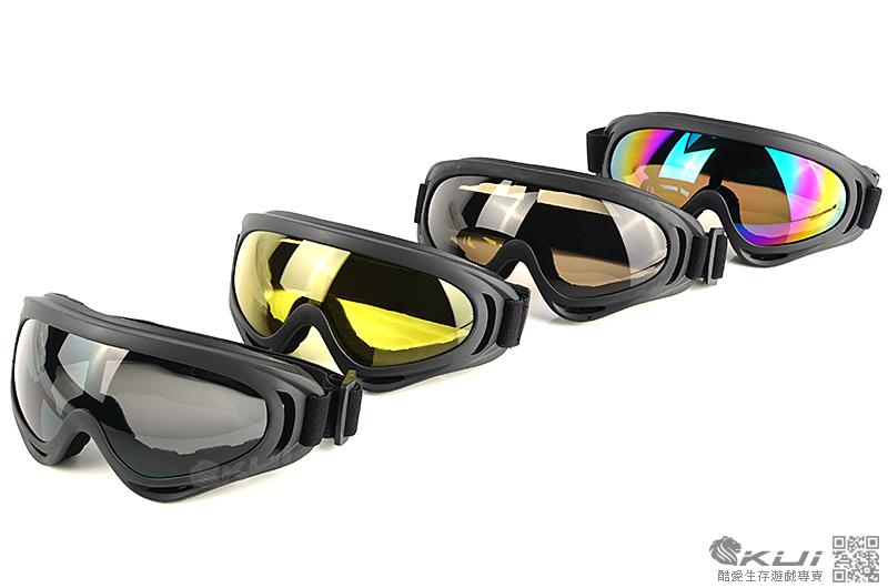 類 FALAN 護目鏡,造型風鏡 - 生存遊戲 (黑邊黑色)