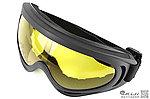 點一下即可放大預覽 -- 類 FALAN 護目鏡,造型風鏡 - 生存遊戲 (黑邊黃色)