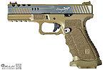 點一下即可放大預覽 -- 拋光 競技版~APS DRAGONFLY 蜻蜓 瓦斯 雙動力手槍~沙色(G17,生存遊戲,IPSC)