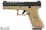 特價!下殺!市場最低價!【享有優惠價購入請先匯款】黑沙~AW Custom WE G17 克拉克 蜂巢版 瓦斯槍,手槍,BB槍(金屬滑套+金屬槍管)