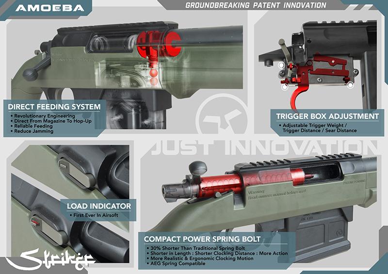 特價!ARES AMOEBA AS01【鐵灰色】空氣狙擊槍,手拉空氣槍