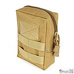 點一下即可放大預覽 -- EDC【狼棕色】MOLLE 低調醫療包,收納袋,雜物包,收納包,工具袋