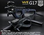 點一下即可放大預覽 -- 2017年新款強化版~黑色 SRU G17 SR-PDW-P3 GBB 瓦斯槍,衝鋒槍