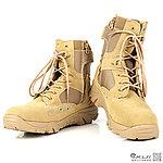 45號 沙色 長筒戰鬥靴,戰術靴,戰鬥鞋