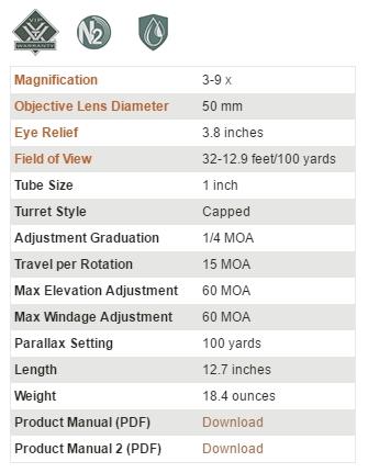 真品 VORTEX Crossfire II 3-9x50 狙擊鏡 (CF2-31011)