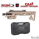 點一下即可放大預覽 -- 沙色~CAA RONI G1 Carbine Kit 戰術衝鋒槍套件 槍箱組 (授權刻字)