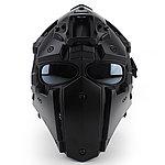 點一下即可放大預覽 -- 全罩式 懲罰者戰術頭盔,面罩,護目鏡(黑色鏡片)