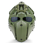 全罩式【OD綠】懲罰者戰術頭盔,面罩,護目鏡(黑色鏡片)