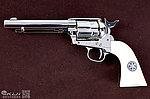 點一下即可放大預覽 -- 警長版~ 柯特 Colt SAA 6mm授權刻字 全金屬 CO2 轉輪手槍(銀色)