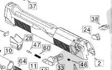 HFC M92貝瑞塔 金屬滑套 (零件編號#2)
