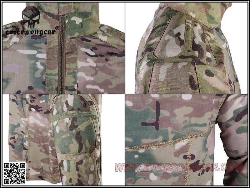 EMERSON 愛默生【多地迷彩 M號】 全天候作戰套服,超透氣戰鬥服(上衣+褲子)