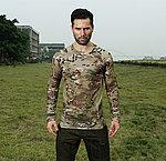 多地魔蠍迷彩 L號~戰術排汗上衣,戰鬥服,長袖上衣,涼爽,速乾T恤