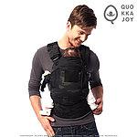 暗夜迷彩~QuokkaJoy 限定版 迷彩嬰兒背袋,人體工學 背巾,美國原廠布料