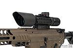 點一下即可放大預覽 -- NG品1.5-5X32 戰術狙擊鏡,瞄準鏡(3段紅綠藍光+附三面魚骨夾具+防塵蓋)