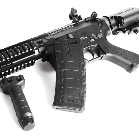特價!買就送電池+充電器~King Arms TWS M4 VIS CQB 全金屬電動槍,電槍
