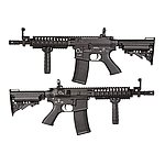 [全配版]~黑色~King Arms TWS M4 VIS CQB 全金屬電動槍,電槍(附鋰電池+充電器)