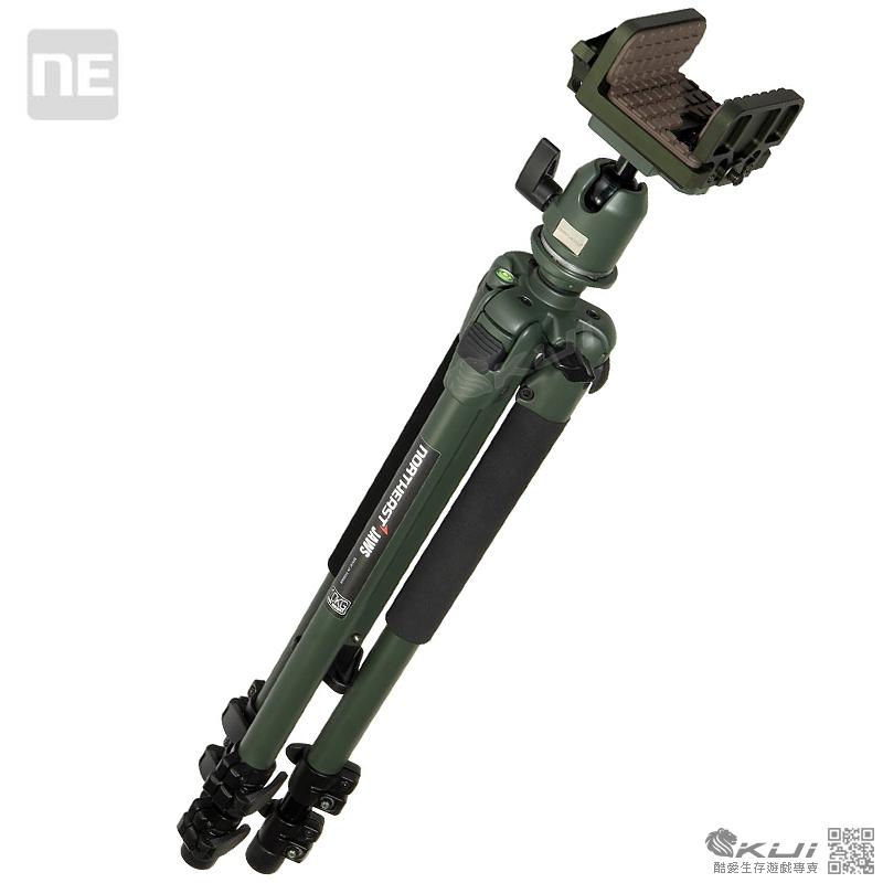 綠色~NORTHEAST JAWS SADDLE 叢林偵查腳架組(含射擊腳架夾座),三腳架