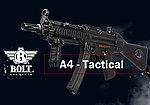點一下即可放大預覽 -- 仿真後座力~BOLT SWAT A4 EBB 戰術魚骨固定托版 電動槍