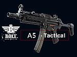 點一下即可放大預覽 -- 仿真後座力~BOLT SWAT A5 EBB 戰術魚骨伸縮托版 電動槍