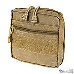 點一下即可放大預覽 -- EDC【沙色】MOLLE儲物小方包,收納袋,雜物包,收納包,工具袋(可手提)