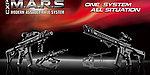 點一下即可放大預覽 -- 一芝軒 ICS 火星悍將 CXP-MARS Komodo 全金屬電動槍(FET版)~黑色,電槍(ICS-300)
