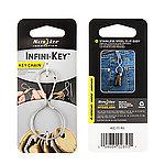 點一下即可放大預覽 -- 正品~NITE IZE INFINI-KEY 葫蘆型鑰匙扣~砂光銀(KIC-11-R3)