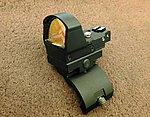 45度 斜魚骨 +【黑色】L DP-PRO 內紅點,快瞄鏡,槍身連結固定器(M4,克拉克,1911)