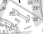 點一下即可放大預覽 -- HFC M92貝瑞塔 零件編號 #27 板機連桿~連發版