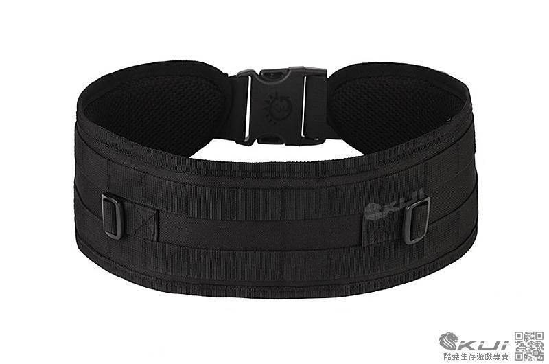 黑色~美軍MOLLE 特戰腰封,戰術腰帶,護腰,腰靠