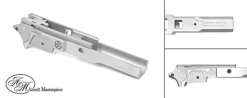 BB槍升級件-零配件-Airsoft Masterpiece 鋼製SV 3 9 中段下槍身~銀色(FOR