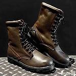 41號 MIT 牛皮長筒 戰鬥靴~深咖啡色,戰術靴,戰鬥鞋,軍靴,登山靴,軍鞋