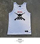 點一下即可放大預覽 -- GHK 17 S/S MASK 無袖上衣~白色 L號,背心,汗衫