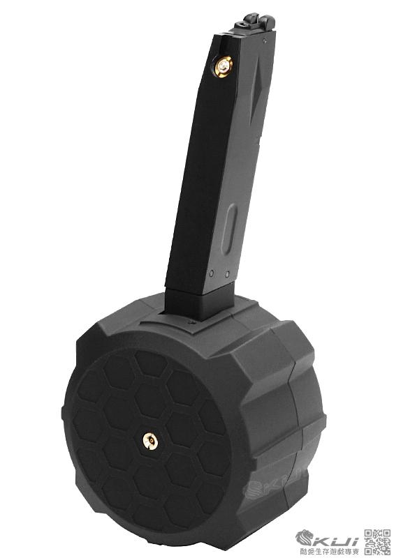 台灣首發∼HFC M9 Drum Mag 130發 瓦斯彈鼓 [黑沙色],附BB彈