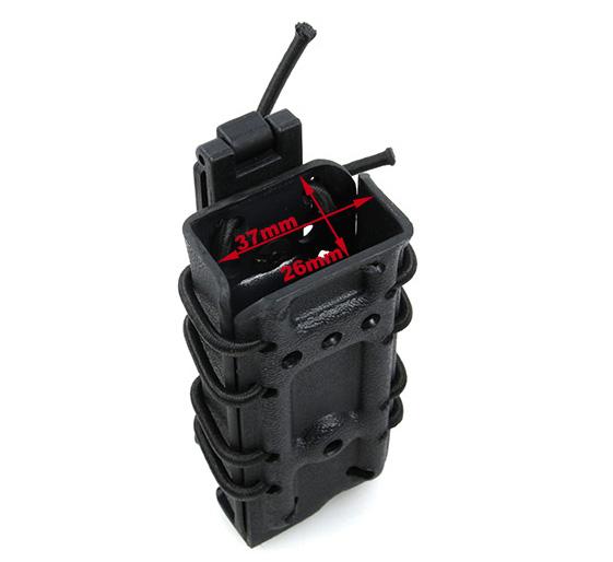 黑色 0305 Kydex Stack Pistol Mag Carrier 手槍彈夾套 (35-PM-BK)