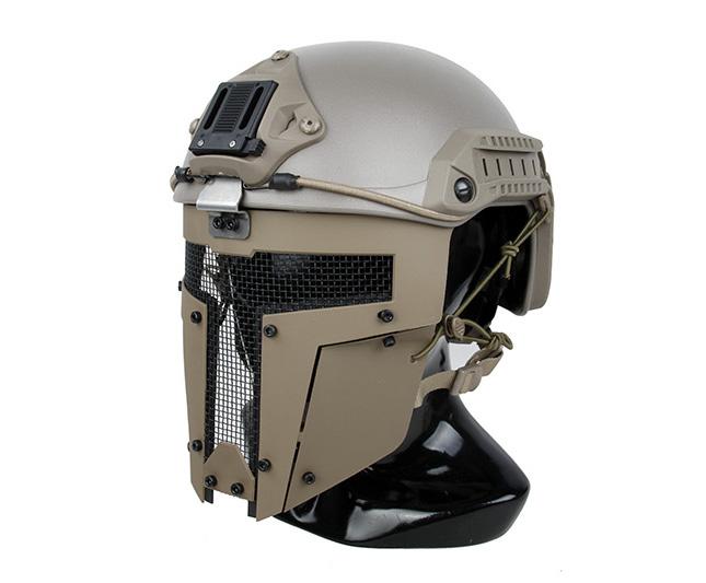 沙色 SPT Mesh Mask 戰術面罩,斯巴達戰術面具