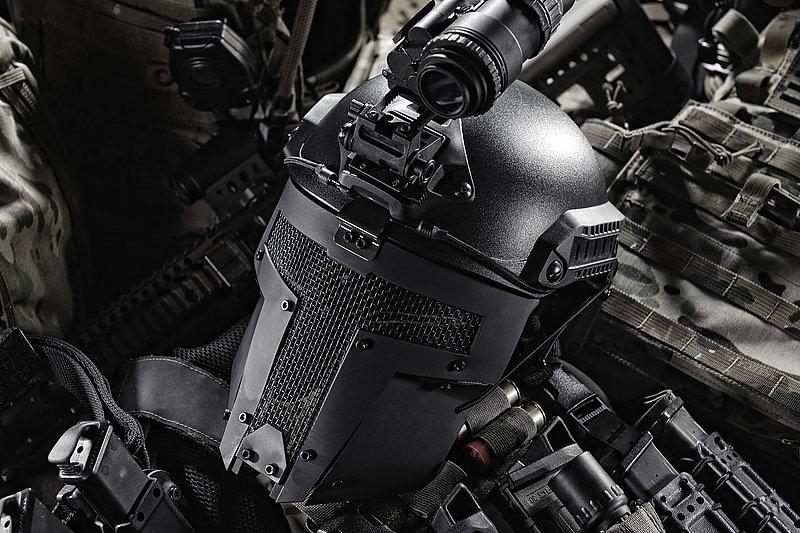 黑色 TMC SPT Mesh Mask 戰術面罩,斯巴達戰術面具 (TMC2671)