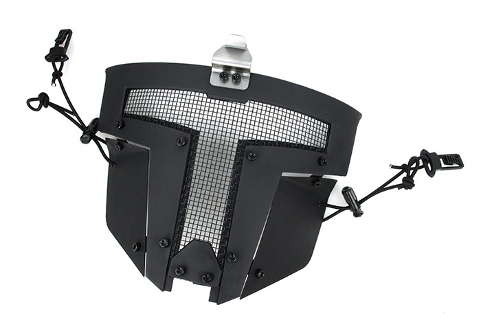 黑色 SPT Mesh Mask 戰術面罩,斯巴達戰術面具