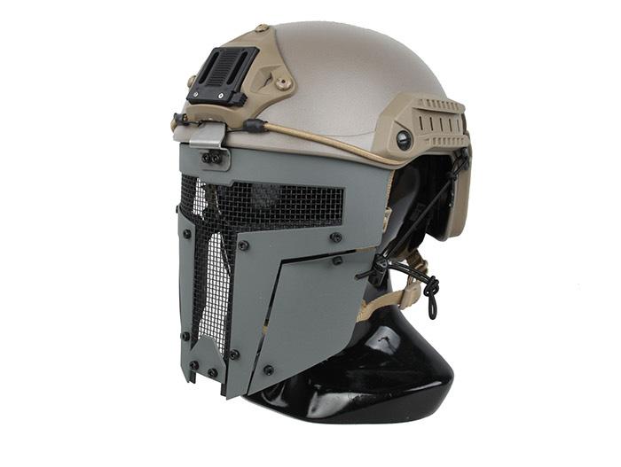 灰色 TMC SPT Mesh Mask 戰術面罩,斯巴達戰術面具 (TMC2671)