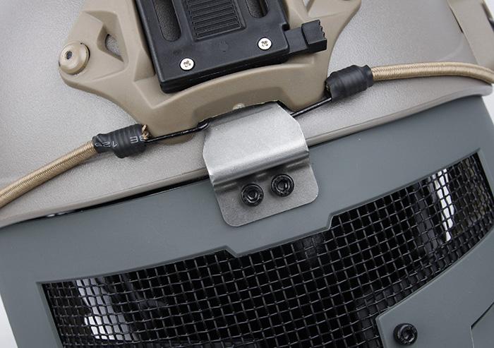 灰色 SPT Mesh Mask 戰術面罩,斯巴達戰術面具
