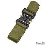 OD綠~戶外眼鏡蛇 鋅合金插扣 快速釋放戰術腰帶 尼龍腰帶,125CM