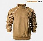 狼棕色 L號~自由兵 戶外 暴君戰術抓絨衣,男士保暖長毛絨外套,冬季 打底衣,T恤,戰鬥服,上衣