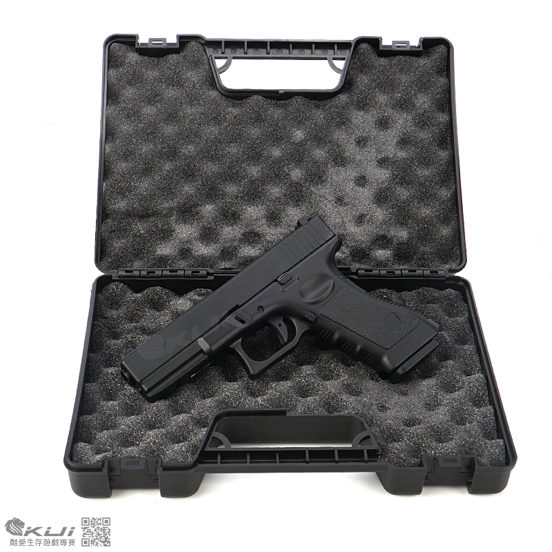 [新手推薦 全配版]~BELL G17 克拉克 金屬瓦斯手槍~(槍+瓦斯+矽油+BB彈,附硬殼槍盒)