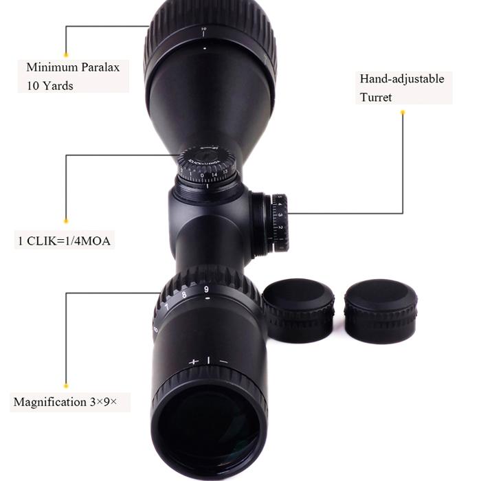 DISCOVERY 發現者 VT-1 3-9X40AO 真品狙擊鏡,抗震,高清晰,防水防霧